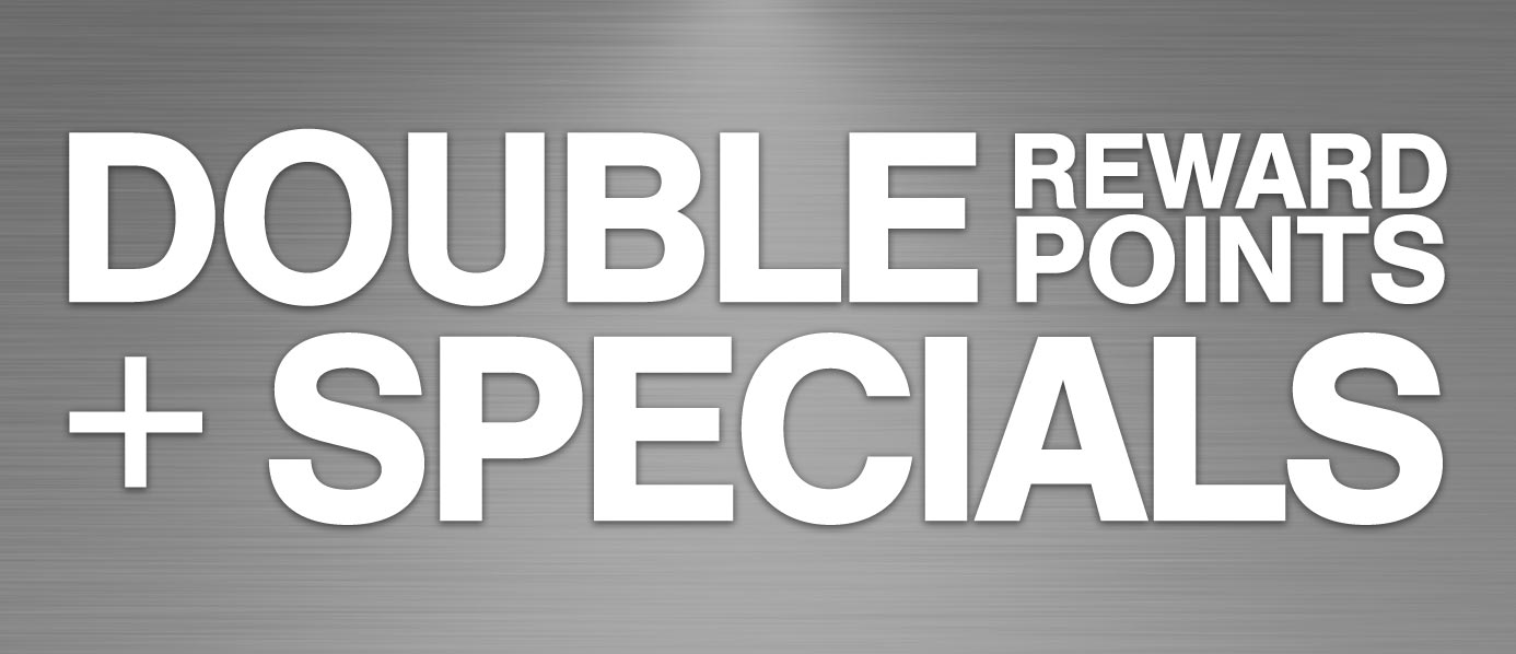 View Products with Double Reward Points + Specials