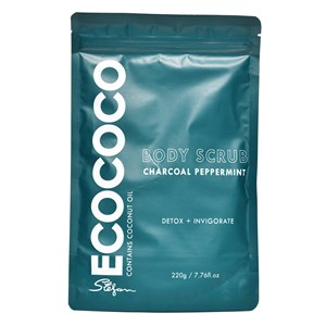 ECOCOCO Charcoal Peppermint Body Scrub 220g