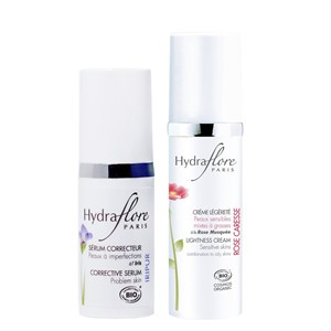 Hydraflore Corrective Serum and Soothing Lightness Cream Duo