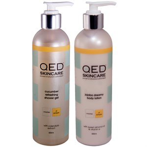 QED Essential Duo Set (300ml Shower Gel and Body Lotion)